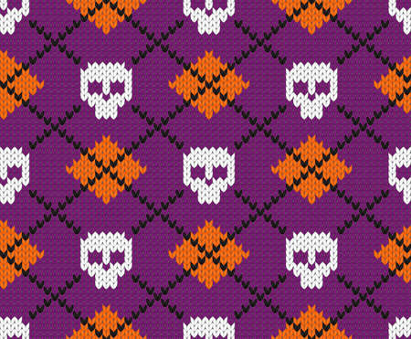 Seamless fabric pattern for Halloween design. EPS 10 vector illustration. Vector