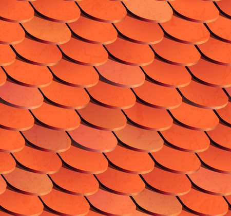 Seamless roof tiles. EPS 10 vector illustration. Vector