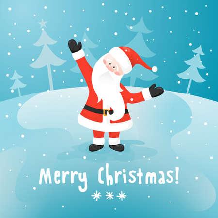 klaus: Santa Claus. Vector Christmas card. EPS 10. Illustration