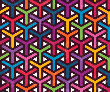 Colorful geometric pattern. Seamless abstract background