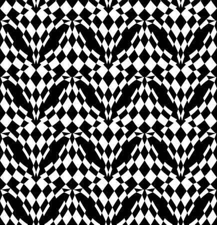 checked: Black and white abstract background