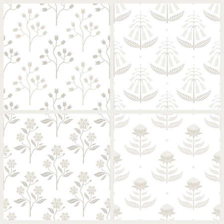 franela: Conjunto de los modelos monocrom�ticos incons�tiles con flora australiana. Vectores