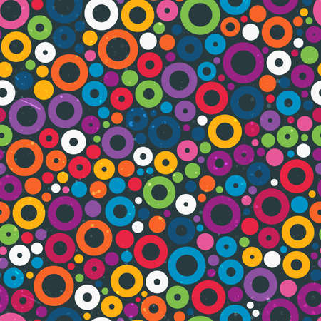 Colorful seamless pattern with circles Vector