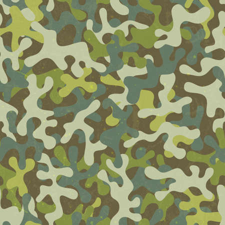 Camouflage seamless print. Abstract fabric pattern. Stock Vector - 25313859