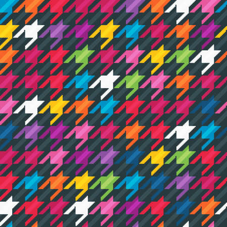 Abstract seamless background with houndstooth pattern.  Vettoriali
