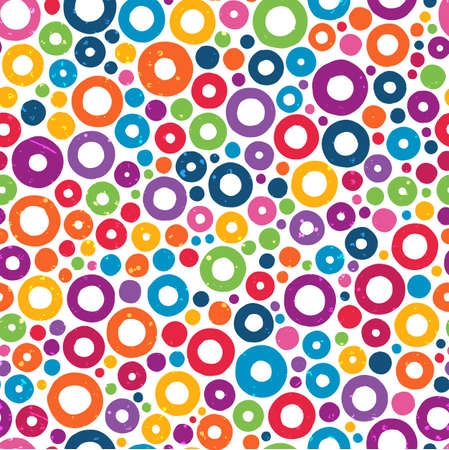 Colorful seamless pattern with hand drawn circles.  Illustration