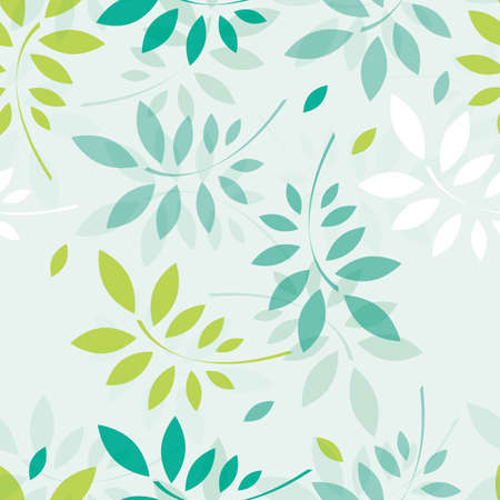 Spring background with branches and leaves.  Vector