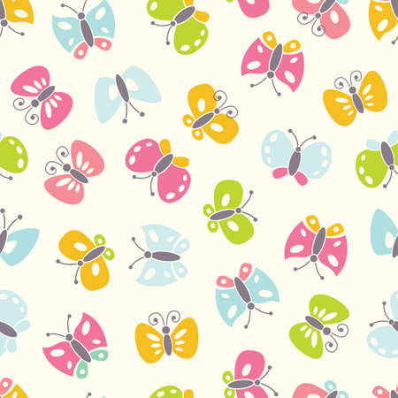 Seamless background with colorful butterfies. EPS 8 vector illustration. Vector