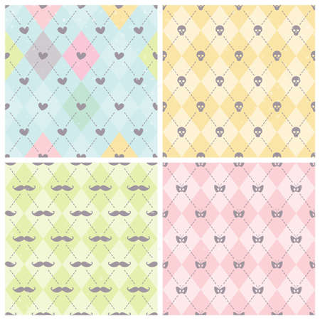 Seamless baby background collection. Set of vector patterns. Vector
