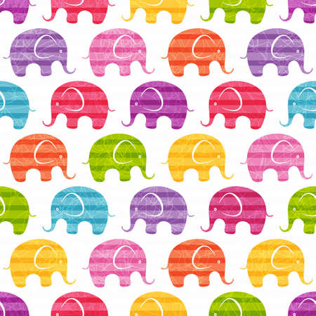 Seamless print with funny  little elephants. EPS 10 vector illustration. Vector
