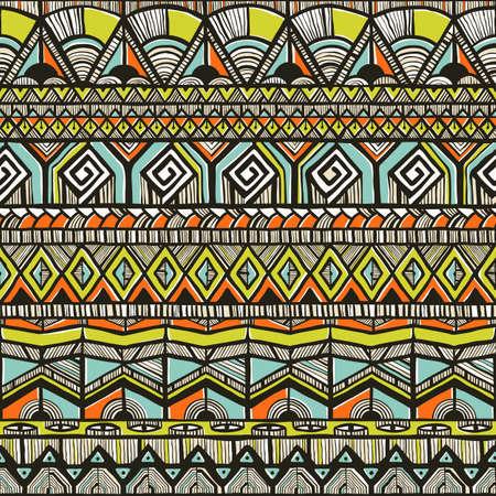 ilustraciones africanas: Dibujado a mano patrón tribal Vectores