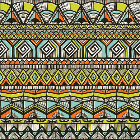 Tribal hand-drawn pattern Vector