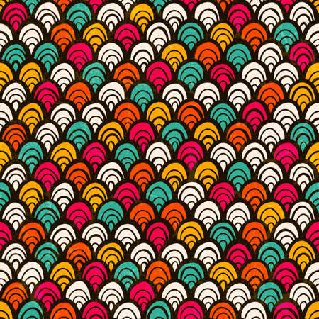 Seamless colorful hand drawn pattern. EPS 10 vector illustration. Vector