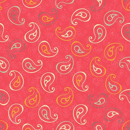 Paisley seamless print.  Illustration