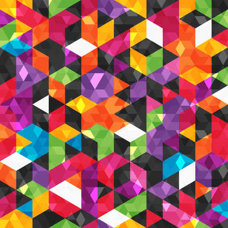 Colorful abstract pattern with geometric shapes. Seamless background.  Vector