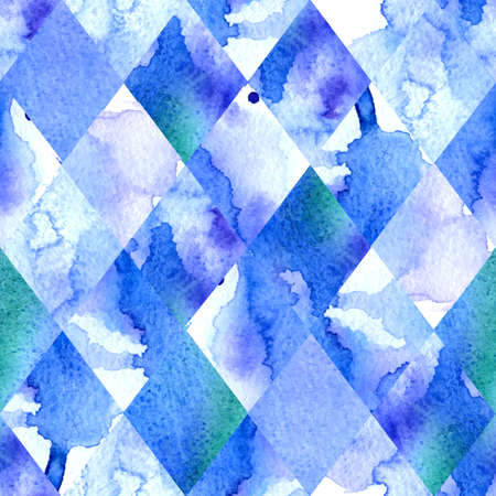 Watercolor geometric background.  Vector