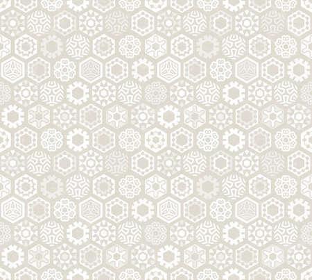 geometric background: Fondo de pantalla con los copos de nieve estilizados .. Patr�n sin fisuras. Perfecto para el dise�o de Navidad. EPS 10 ilustraci�n vectorial.