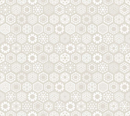 december background: Wallpaper with stylized snowflakes.. Seamless pattern. Perfect for Christmas design. EPS 10 vector illustration.