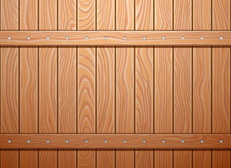 Wood wall texture background. EPS 10 vector illustration.