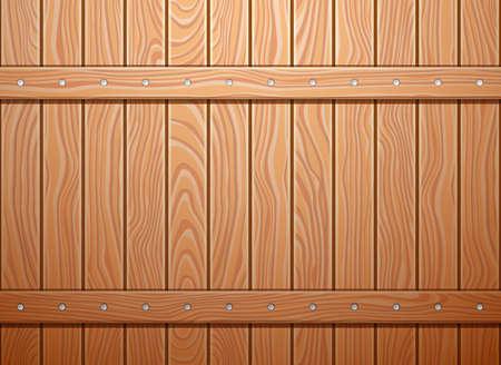 Houten muur textuur achtergrond. EPS 10 vector illustratie.