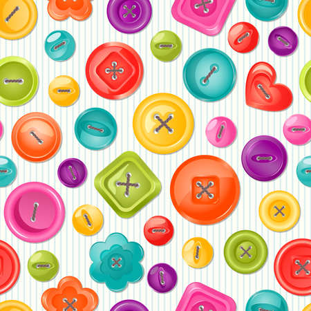 Seamless print with colorful buttons. Vector background. Vector