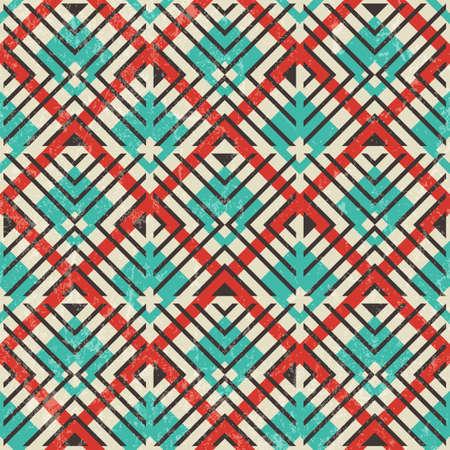 motif geometriques: R�tro motif g�om�trique. R�sum� de fond sans soudure. EPS10 vector illustration. Illustration