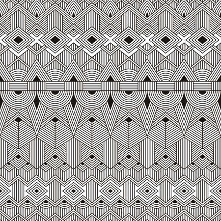 trendy tissue: Seamless tribal pattern. Abstract geometric background. EPS10 vector illustration. Illustration