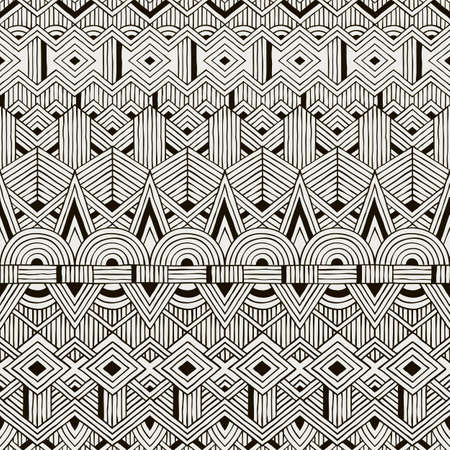 ethno: Seamless tribal pattern. Hand drawn background. EPS10 vector illustration. Illustration