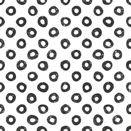 modes: Vector hand drawn dots pattern. Seamless monochrome background with grunge texture. EPS10 vector illustration. Contains no transparency and blending modes. Illustration