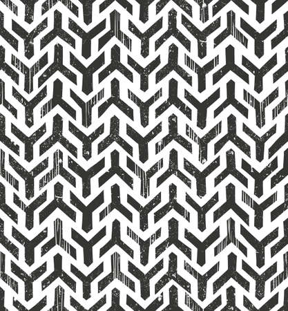 primitive: Hand drawn tribal monochrome pattern. Primitive geometric background in grunge style.