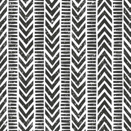 blending: Hand drawn tribal pattern. Seamless geometric background with grunge texture. Contains no transparency and blending modes. Illustration