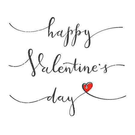 letter: Happy Valentines Day. Greeting card with hand drawing lettering design. Illustration