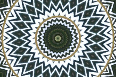 meridiano: Geométricos verde patrón decorativo abstracto