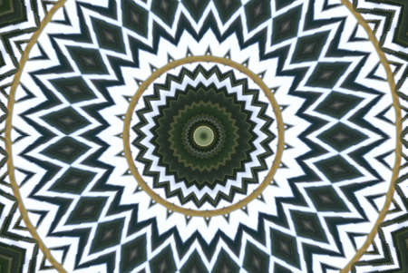 meridian: Geometrical green abstract decorative pattern Stock Photo