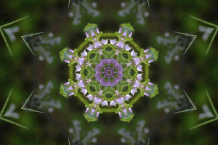 mingled: green and lilac decorative pattern Stock Photo