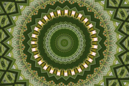 Geometrical green abstract decorative pattern Stock Photo - 4351339