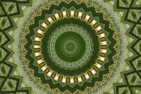 meditatiya: Geometrical green abstract decorative pattern Stock Photo