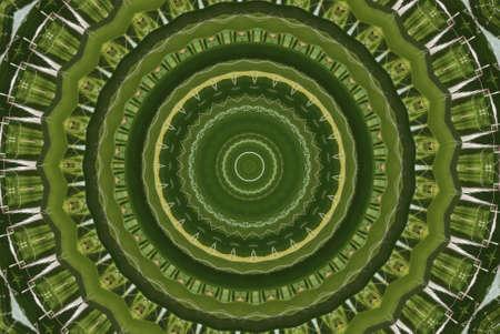 meridiano: Geométrica patrón decorativo abstracta verde  Foto de archivo