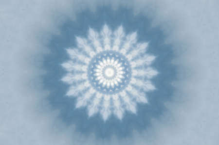 radiating: Abstract blue kaleidoscope winter background