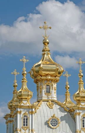 Church of Grand Palace in Petrodvorets (Peterhof), St Petersburg, Russia Stock Photo - 4443698