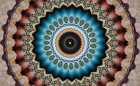 A kaleidoscope, abstract fantasy, illustration, can be used as a background Stock Photo