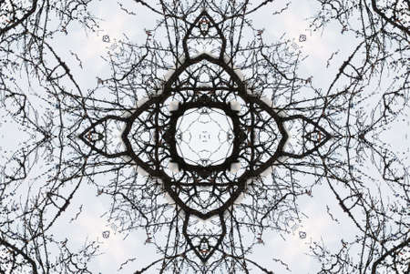flowed: A kaleidoscope, abstract fantasy, illustration, can be used as a background Stock Photo