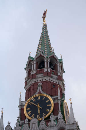 Kremlin Moscow clock tower (red square)