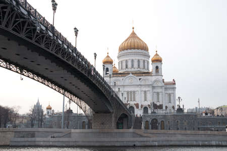 Moscow. The temple was destroyed by communists. The cathedral is restored after crash of a communism photo