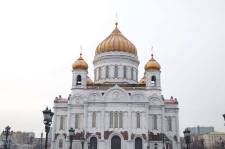 """communists: Moscow. The temple """"Christ – Savior"""". The temple was destroyed by communists. The cathedral is restored after crash of a communism"""