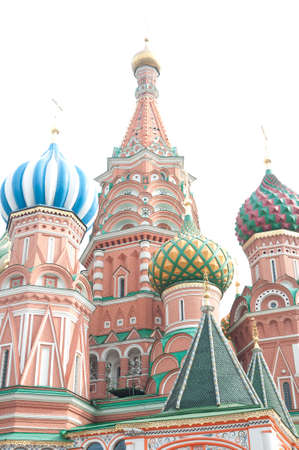 Famous St. Basils Cathedral at Red Square in Moscow, Russia. photo