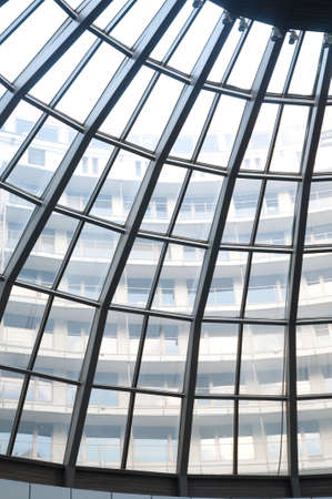 coporate: glass roof of house