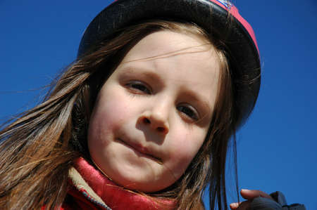 rollerblading: Young girl rollerblading, in a protective clothing Stock Photo