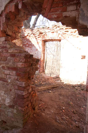 Weathered remains of medieval country estate built with red bricks Stock Photo - 4820805