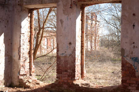 Weathered remains of medieval country estate built with red bricks Stock Photo - 4820860